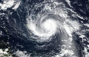 Hurricane Irma from above