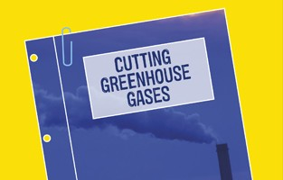 Cutting greenhouse gases policy position paper - cover image