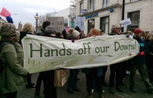 Demonstrators in Eastbourne