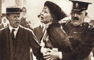 Historic photo police detaining woman