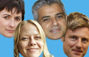 The faces of the 2016 London mayoral candidates
