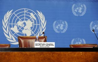 United Nations secretary general empty chair